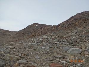 Boulders and rocks, 100 km inland in Antarctica!