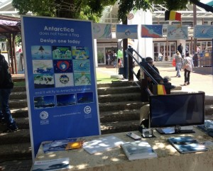 Antarctica flag activity in Cape Town South Africa