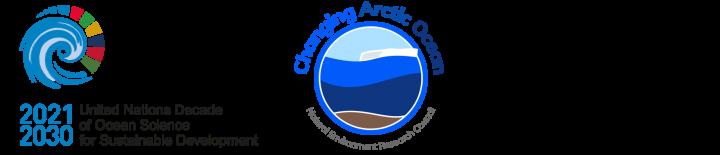 UN Decade of Ocean Science, Changing Arctic Ocean programme, and UKPN logos